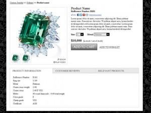 Custom jewelery Magento website