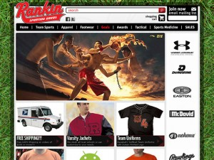 Sporting goods ecommerce site