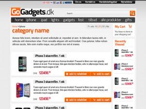 Gadgets magento site