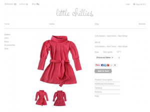 Kids clothes Magento online store