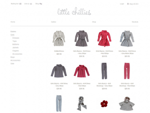 Kids clothes Magento store