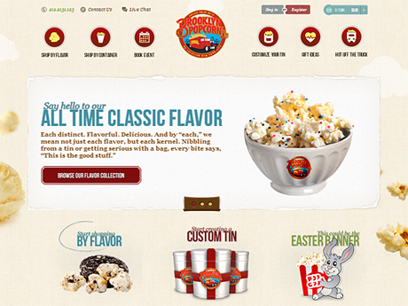 Popcorn online ordering website