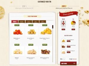 Popcorn online ordering Magento ecommerce website