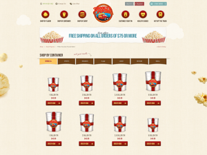 Popcorn online ordering Magento online shop