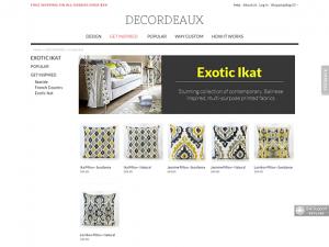 Magento custom pillows online shop