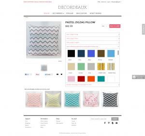 Pillows Magento website
