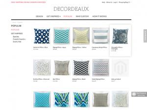 Custom pillows ecommerce website