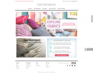 Pillows ecommerce website