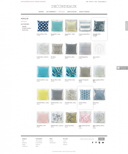 Pillows Magento online shop