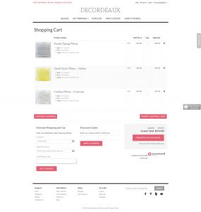 Pillows ecommerce website Magento