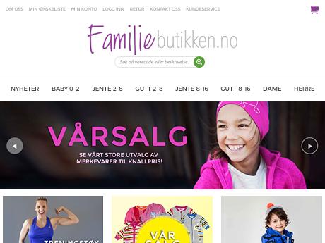 Familiebutikken Magento website