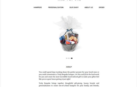 Gift ordering website