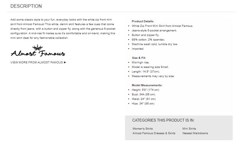 Zumiez Product Description
