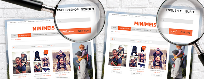 Minimeis Magento multi-store feature