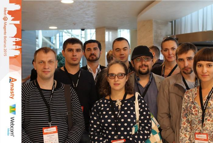 Magecom team at Meet Magento Belarus 2015