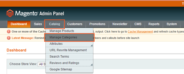 Category creation in Magento