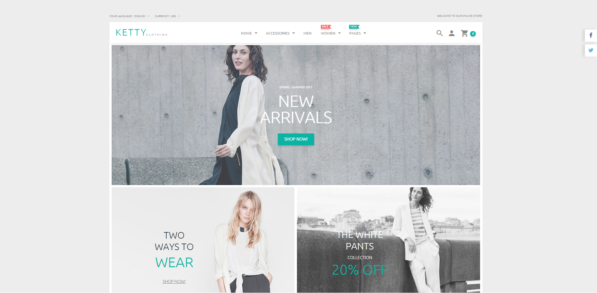 Fashion theme Magento