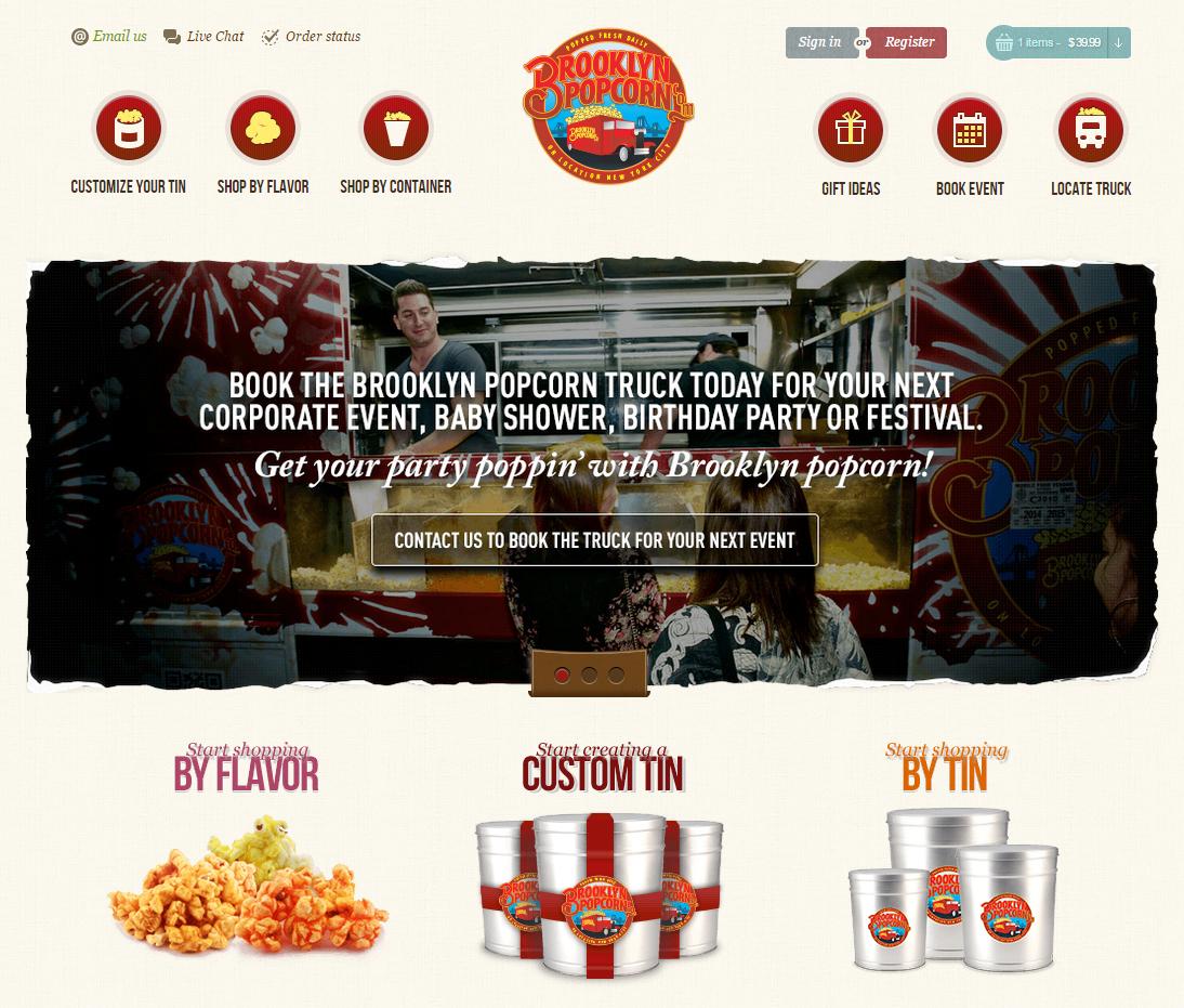 Popcorn ordering website