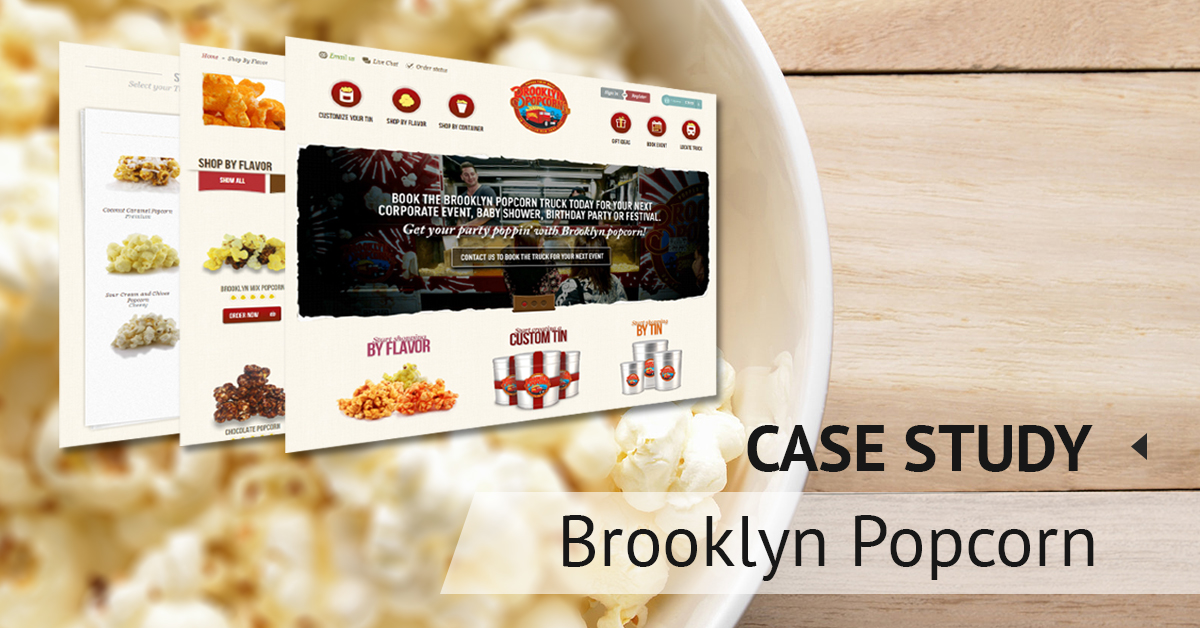 Case study: popcorn ordering online store