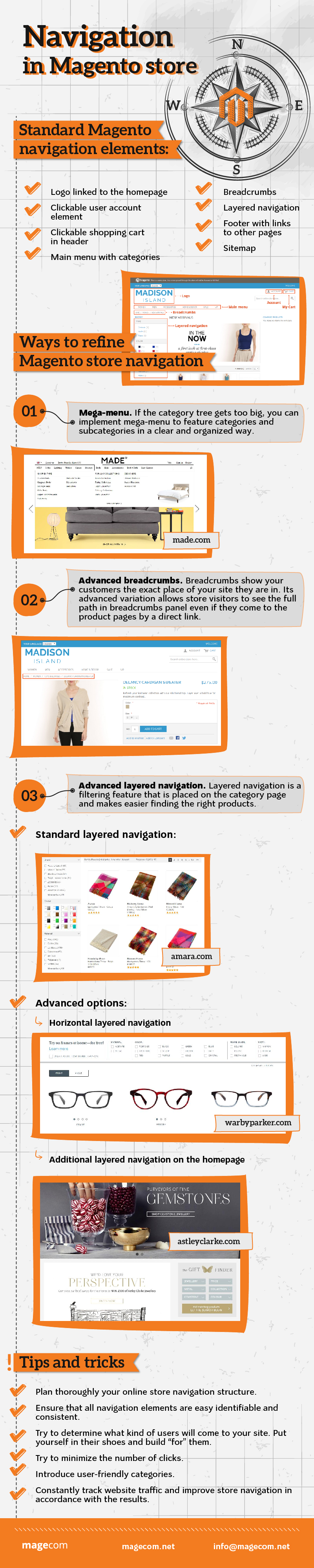Navigation in Magento store