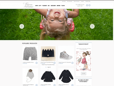 Kids clothing website on Magento