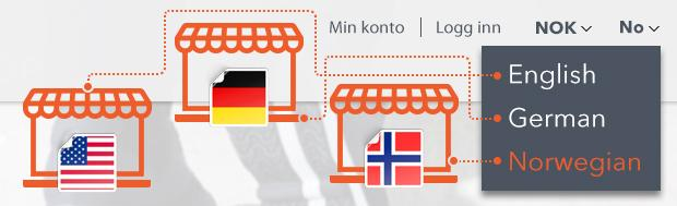 magento multi language store