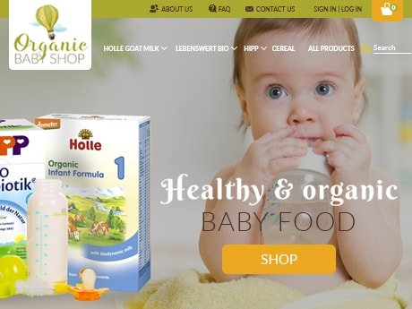Baby Food Online Store on Shopify