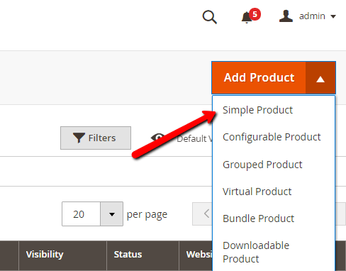 Add product simple