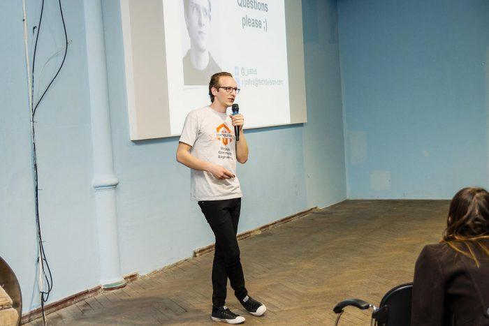 Vadim Justus at Magento Meetup Kharkiv #3