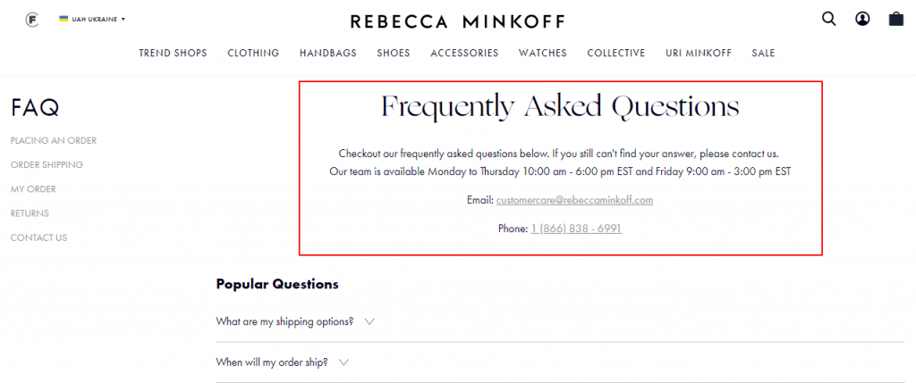 Frequently Asked Questions – Rebecca Minkoff image