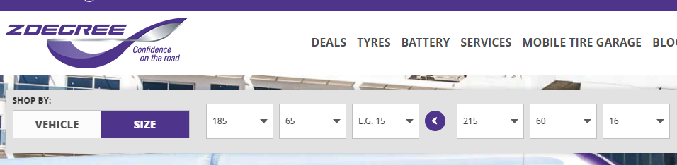 Choose different rear tires type Magento feature