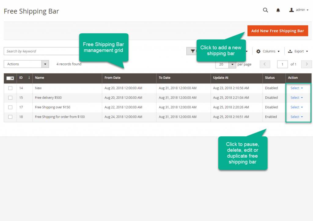 Magento 2 Free Shipping Bar by Mageplaza