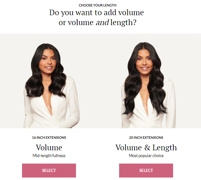 Shopify 3-step test on hair extensions