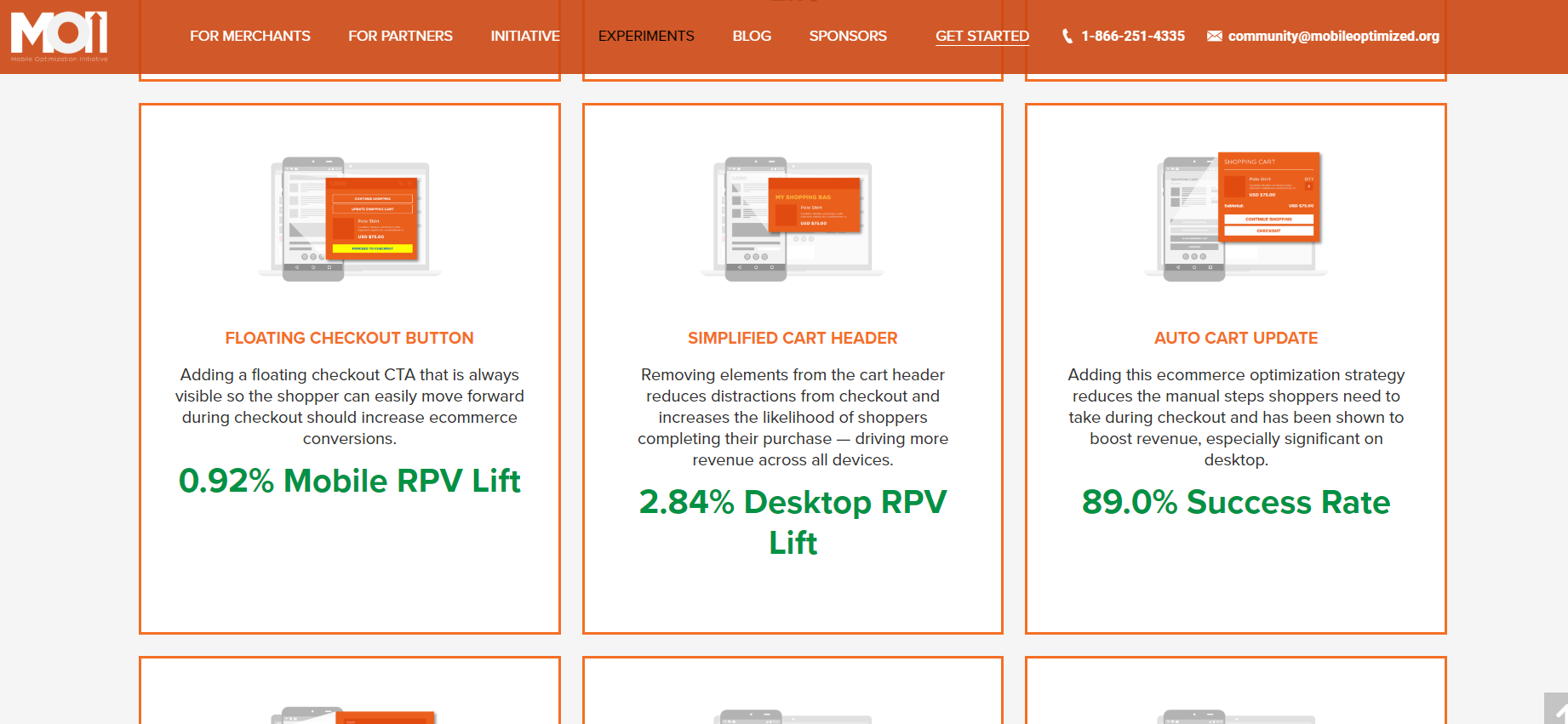Mobile eCommerce Optimization Initiative