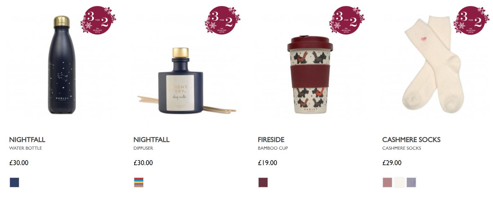 Season products on the Radley website
