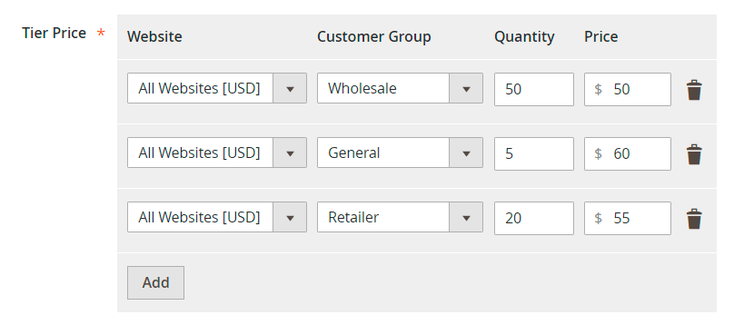 Tier price in Magento 2
