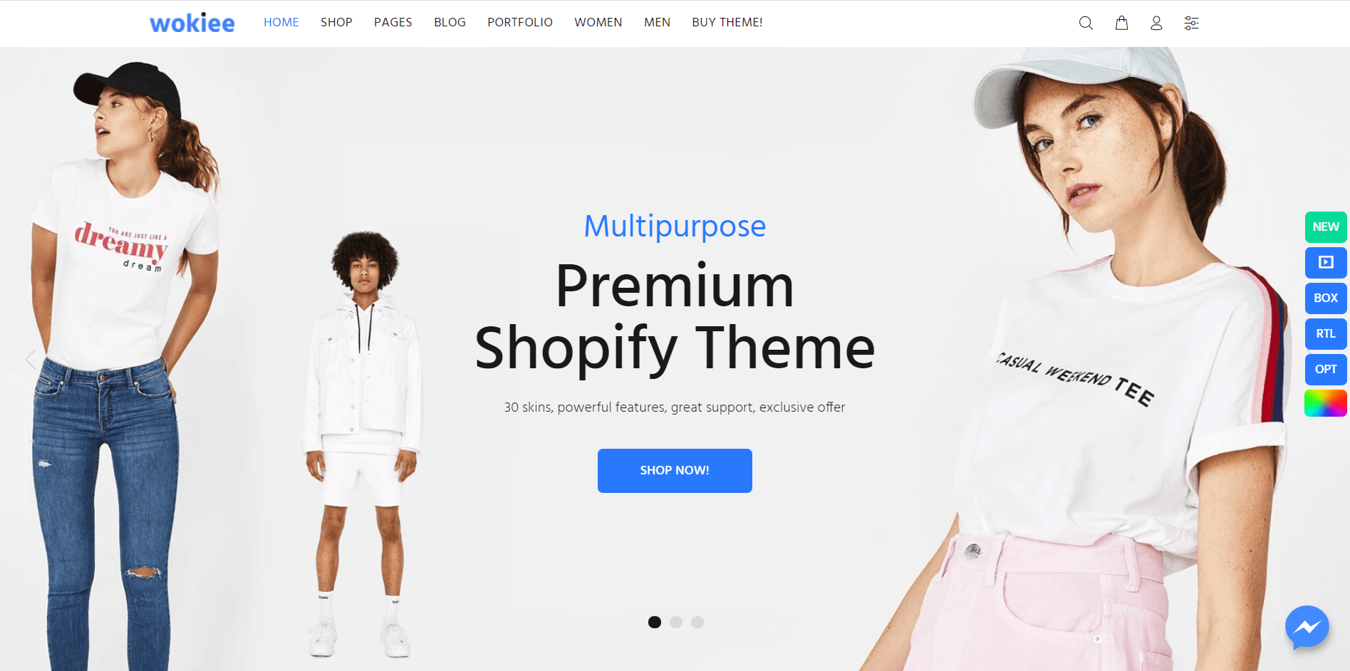 Wookie Shopify theme