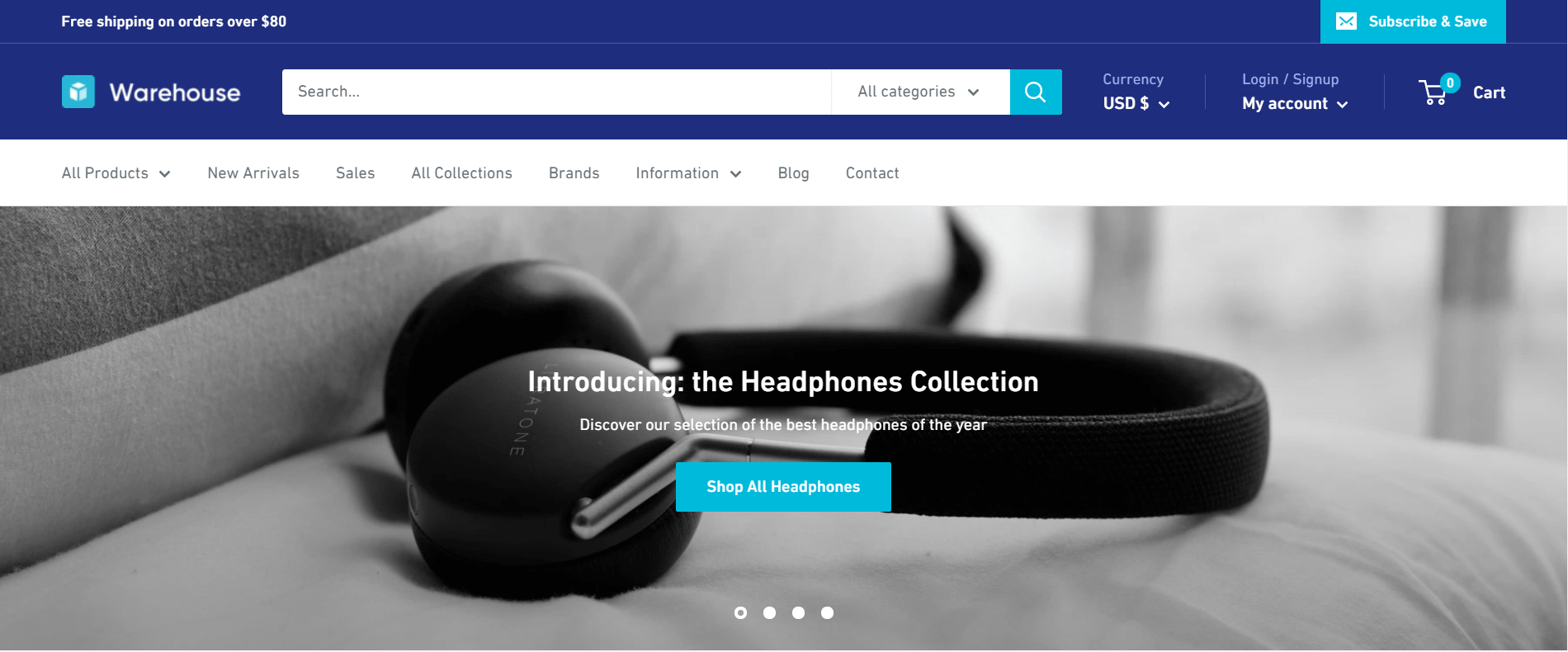 Warehouse theme Shopify