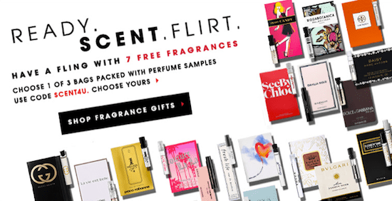 Sephora Valentine's Day website banner
