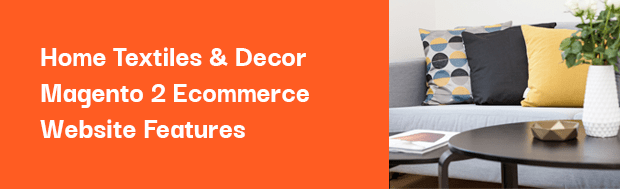 Product Types & Customizations for the Home Textiles & Decor Magento Store