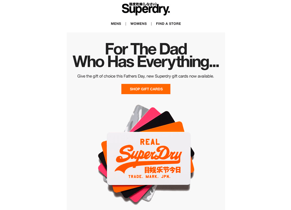 Superdry Father's Day email