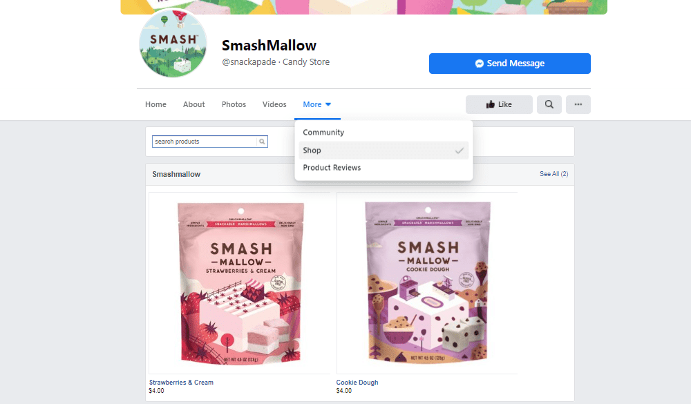 Smashmallow Facebook Shop