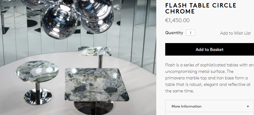 Tom Dixon Flash Table Circle Chrome product description
